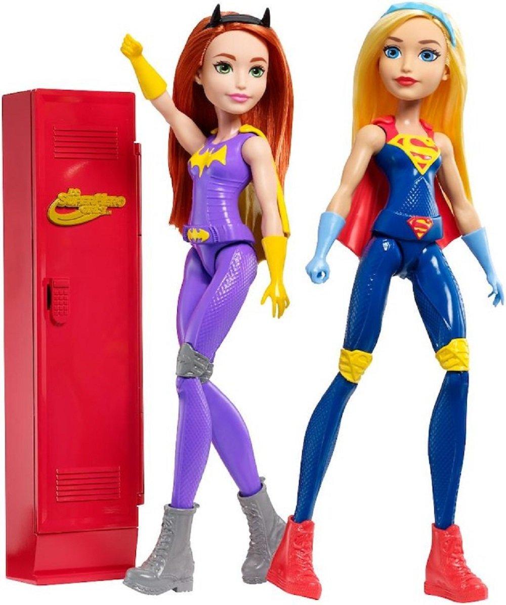 DC Super Hero Girls Supergirl and Batgirl with Locker Gift Set FP