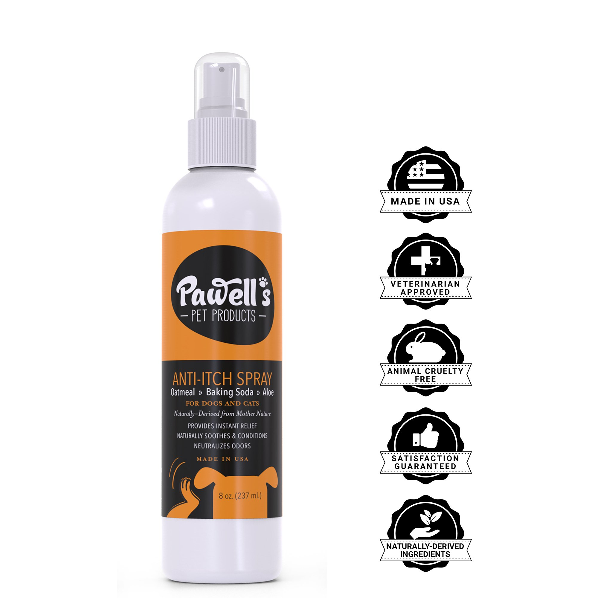NEW Natural Oatmeal Pet, Cat & Dog Itch Spray | Safe Hypoallergenic Soothing Cat & Dog Anti Itch Spray for Dry, Itchy, Flea & Tick bites, hot spots, allergies| Cat & Dog Between Bath Spray