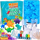 Dinonano Dino Soap Making Supplies DIY Kit - Dinosaurs Silicone Soap Molds with Soap Base for Soap Making STEM Projects Scien