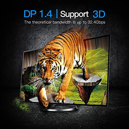Thunderbolt to DP 5Ft//1.5m Cable DP1.4 Male to Male 4K Gold Plated Video Cord Support MacBook DP Monitor Projector VENTION Mini DisplayPort to DisplayPort