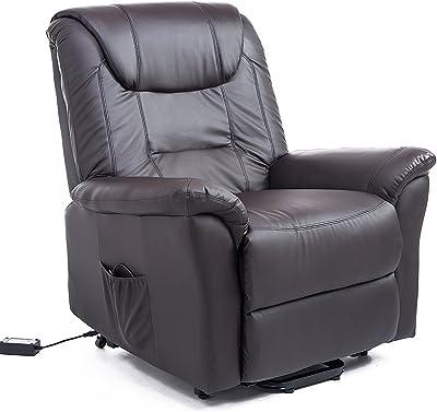 "HomCom 42"" Infinite Position Electric Lift Chair Recliner - Dark Brown"