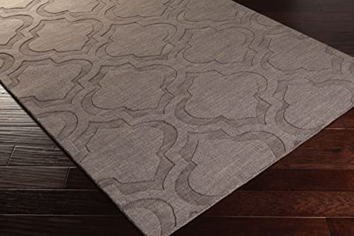 Artistic Weavers Central Park Kate Gray 4'x6' Solid/Striped Area Rug