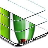 ESR Verre Trempé iPhone X Pack de 2 (Gabarit de Pose Inclu), iPhone X 5,8 pouces Film Protection écran en Verre Trempé Ultra Clair 9H [Résistant aux rayures] pour Apple iPhone X