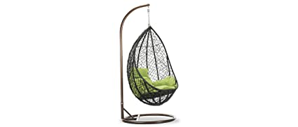 Durian Snow Swing Chair (Matte Finish, Black)