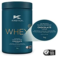 Kinetica Protein Powder Chocolate 1kg, 22g Protein per Serving, 33 Servings, Whey Protein from EU Grass-Fed Cows…