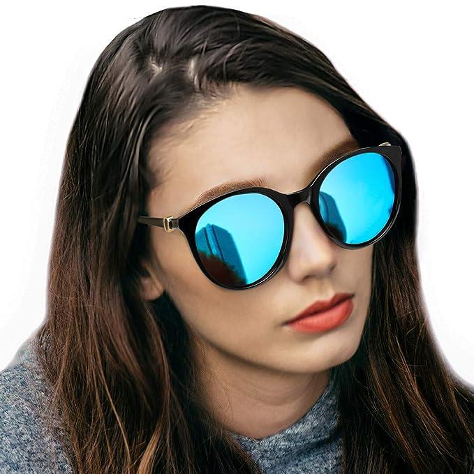 9451549973d8 LVIOE Polarized Cat Eye Sunglasses for Women, Vintage Fashion Eyewear for  Driving Fishing – 100