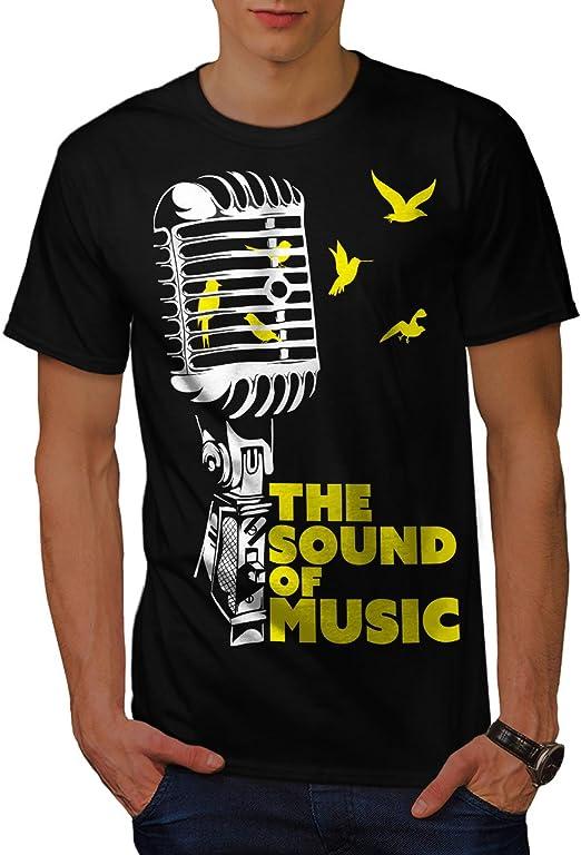 Wellcoda Freedom Saying Mens T-shirt Microphone Graphic Design Printed Tee