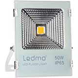 50W LED Flood Lights, Super Bright Work Lights,250W Halogen Bulb Equivalent, IP65 Waterproof Security Lights, 4000Lm 3000K Warm White Outdoor Floodlight Spotlight Lamp, Landscape Wall Light
