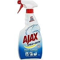 Ajax Spray n' Wipe Multipurpose Antibacterial Disinfectant Cleaner Trigger Spray Ocean Fresh Made in Australia 100% Recycled Bottle 500mL