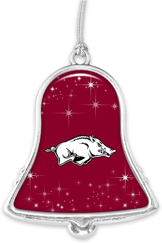 Arkansas Razorbacks Silver Bell Silver Metal Christmas Ornament Gift Decoration