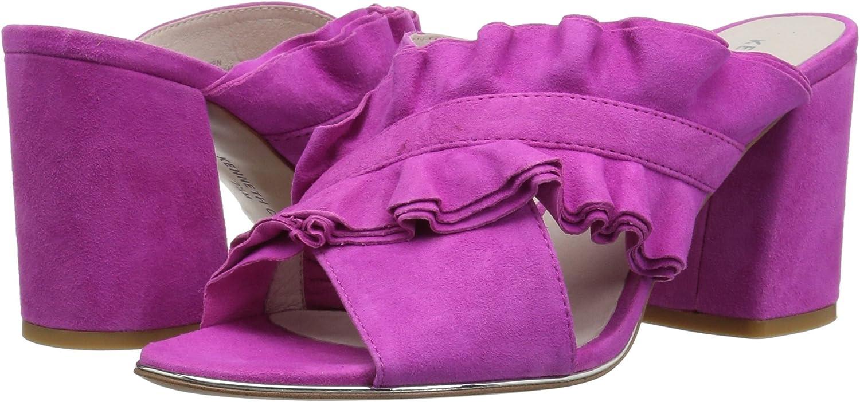 Kenneth Cole New York Womens Laken Ruffled Strap Slide Heeled Sandal KL01909SU