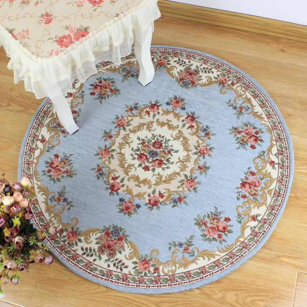DXG&FX European carpet non-slip round chair mat bedroom mat-D diameter200cm(79inch) by DXG&FX