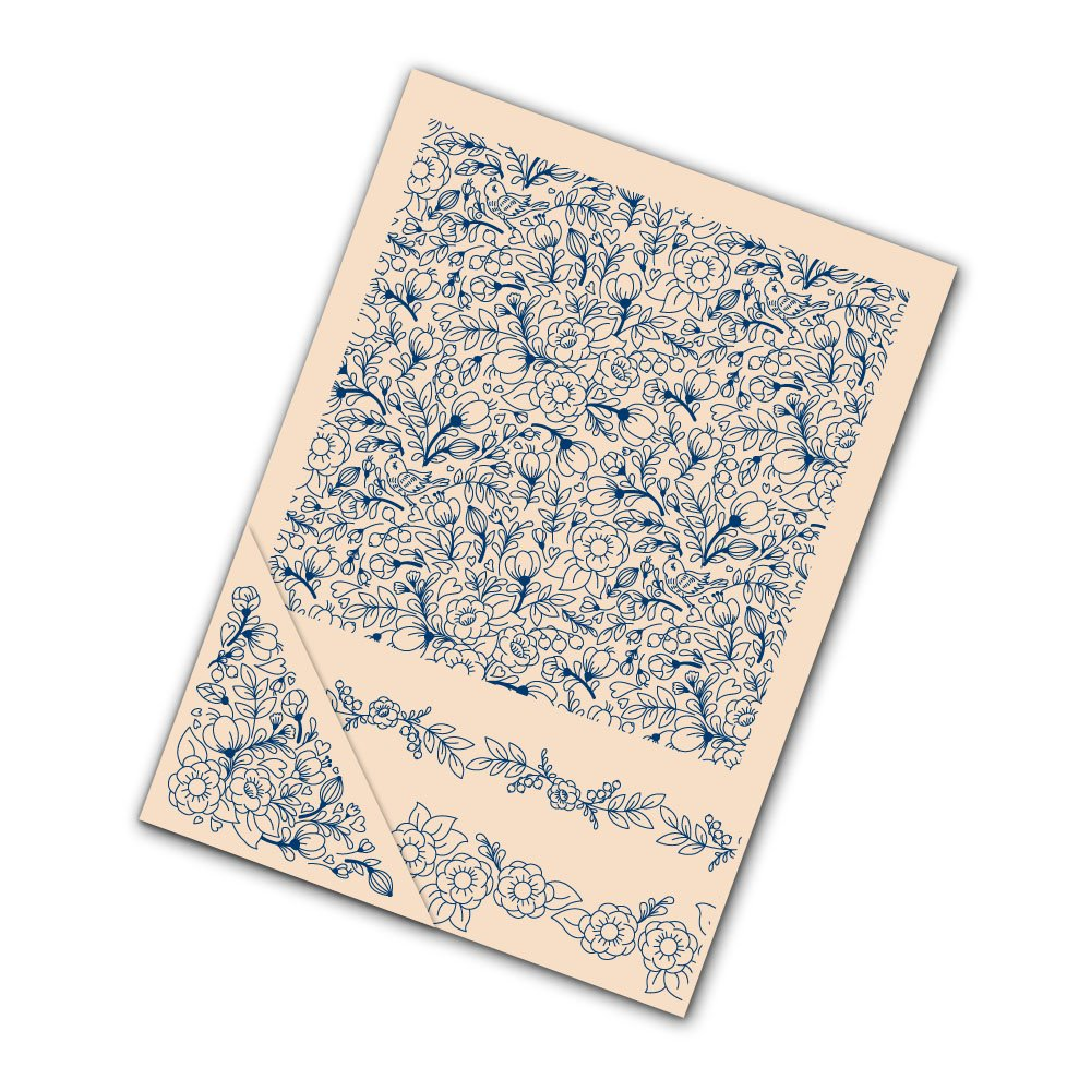 Tattered Lace Set of 4 Embossing Folders --Love Bird Berries EF087