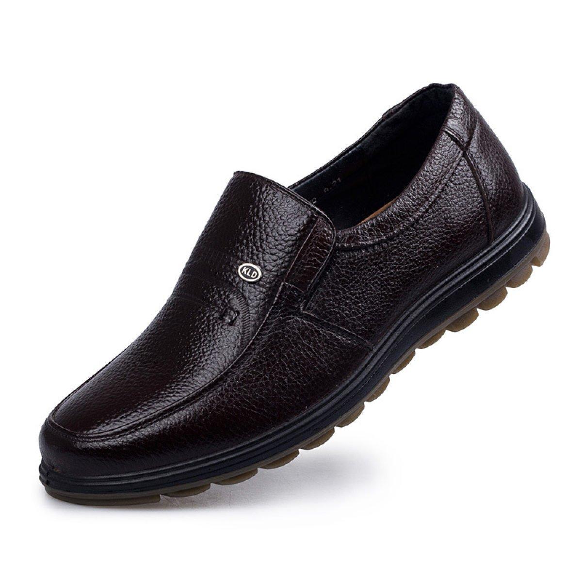 Classic Papa Schuhe Leder Business Casual Herrenschuhe Herren Lederschuhe Mittleren Alters Mode Herrenschuhe