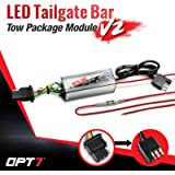 OPT7 Redline Triple LED Tailgate Bar Rear Sensor Tow Assist 4-Pin Module V2 - for Pick up Trucks with Back-up Reverse Camera or Trailer Tow Assist Package Redesigned for 2018+ vehicles