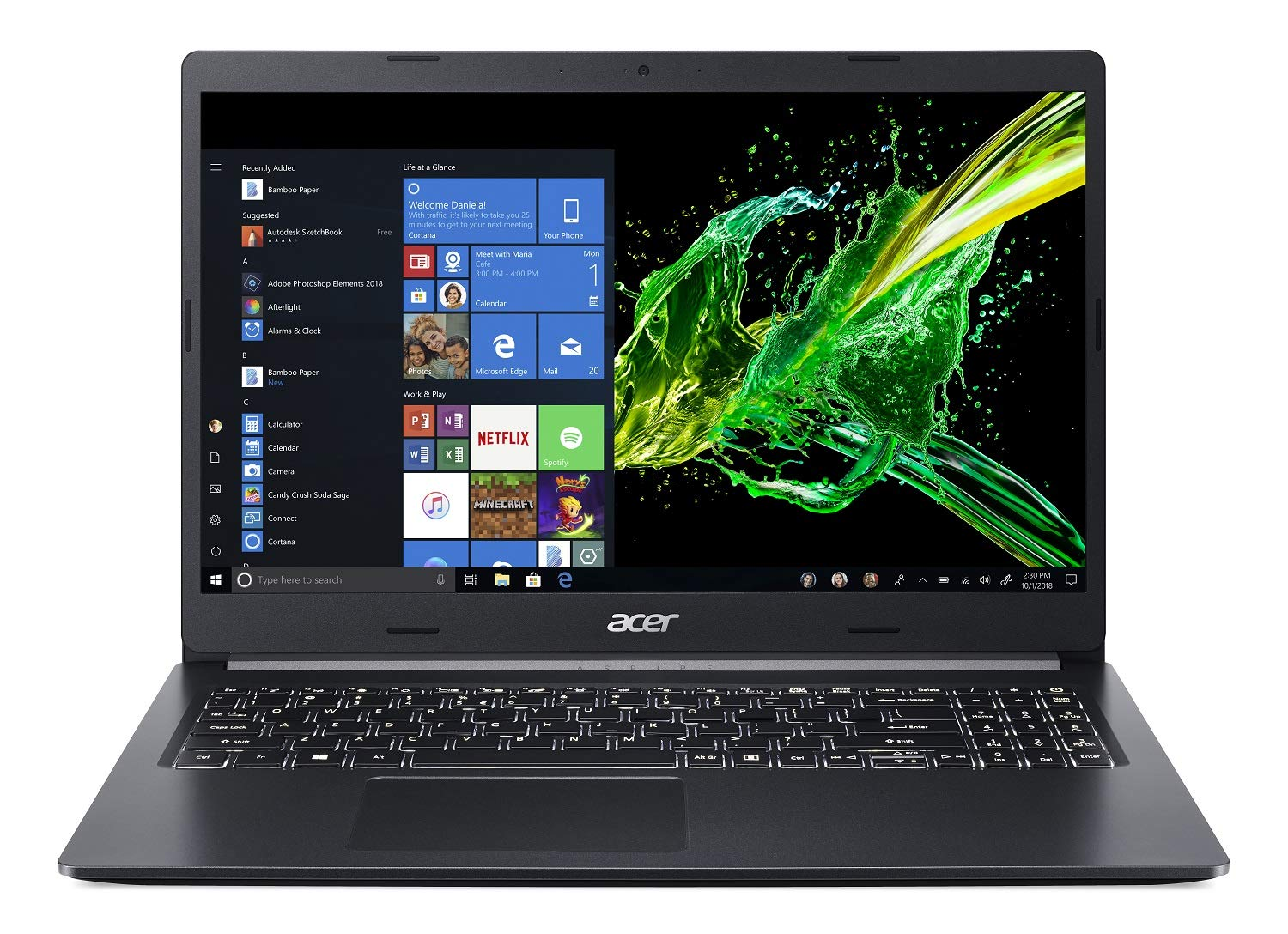 "Acer Aspire 5 Slim Laptop, 15.6"" Full HD IPS Display, 8th Gen Intel Core i7-8565U, NVIDIA GeForce MX250, 12GB DDR4, 512GB PCIe Nvme SSD, Windows 10 Home, A515-54G-73WC"