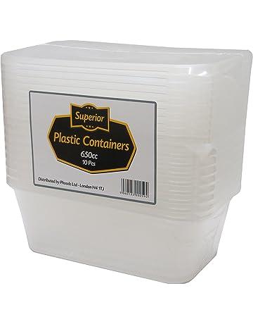 [10 Pack] calidad superior tapas de contenedores de plástico cajas de microondas congelador safe