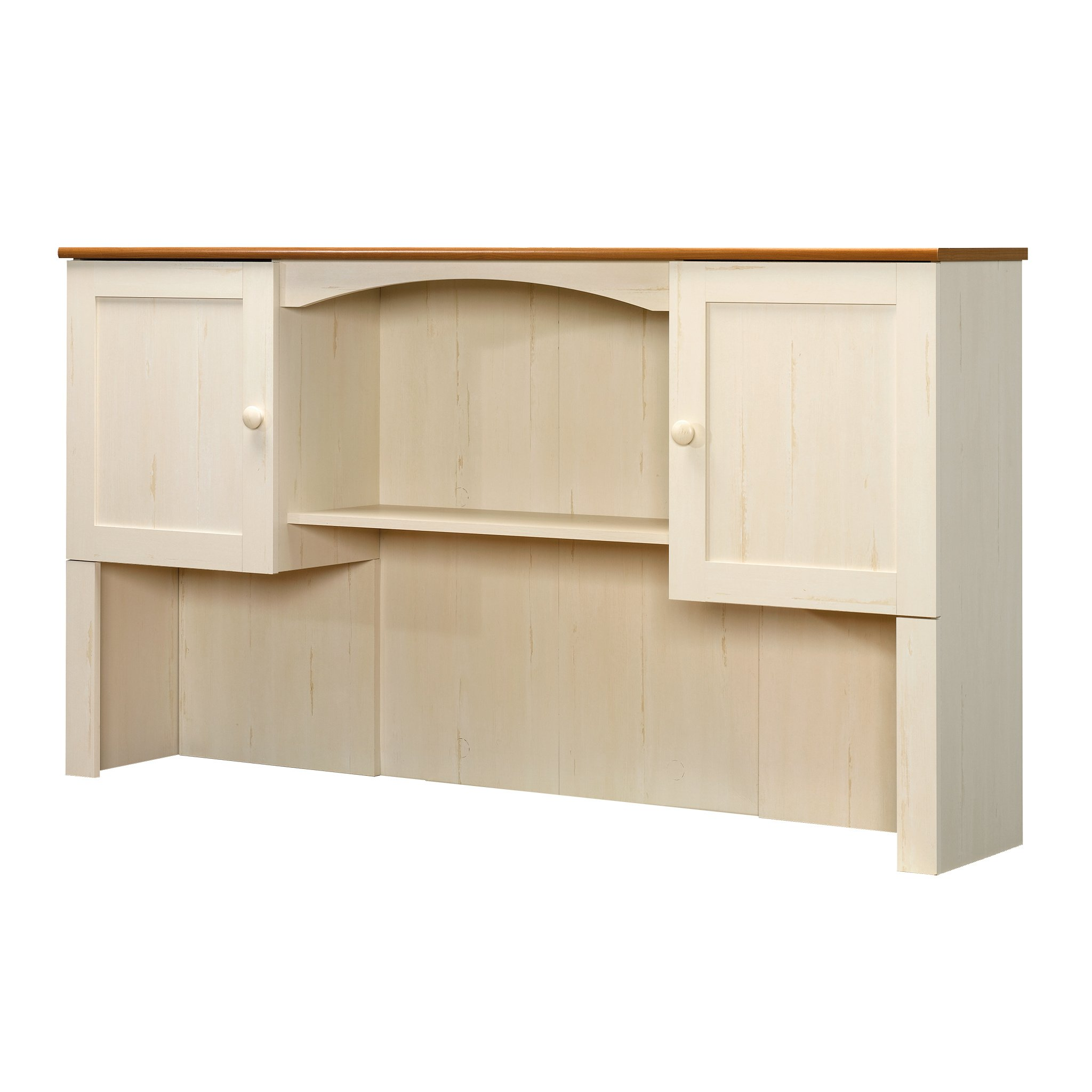 Sauder Harbor View Hutch (desk not included) in Antiqued White