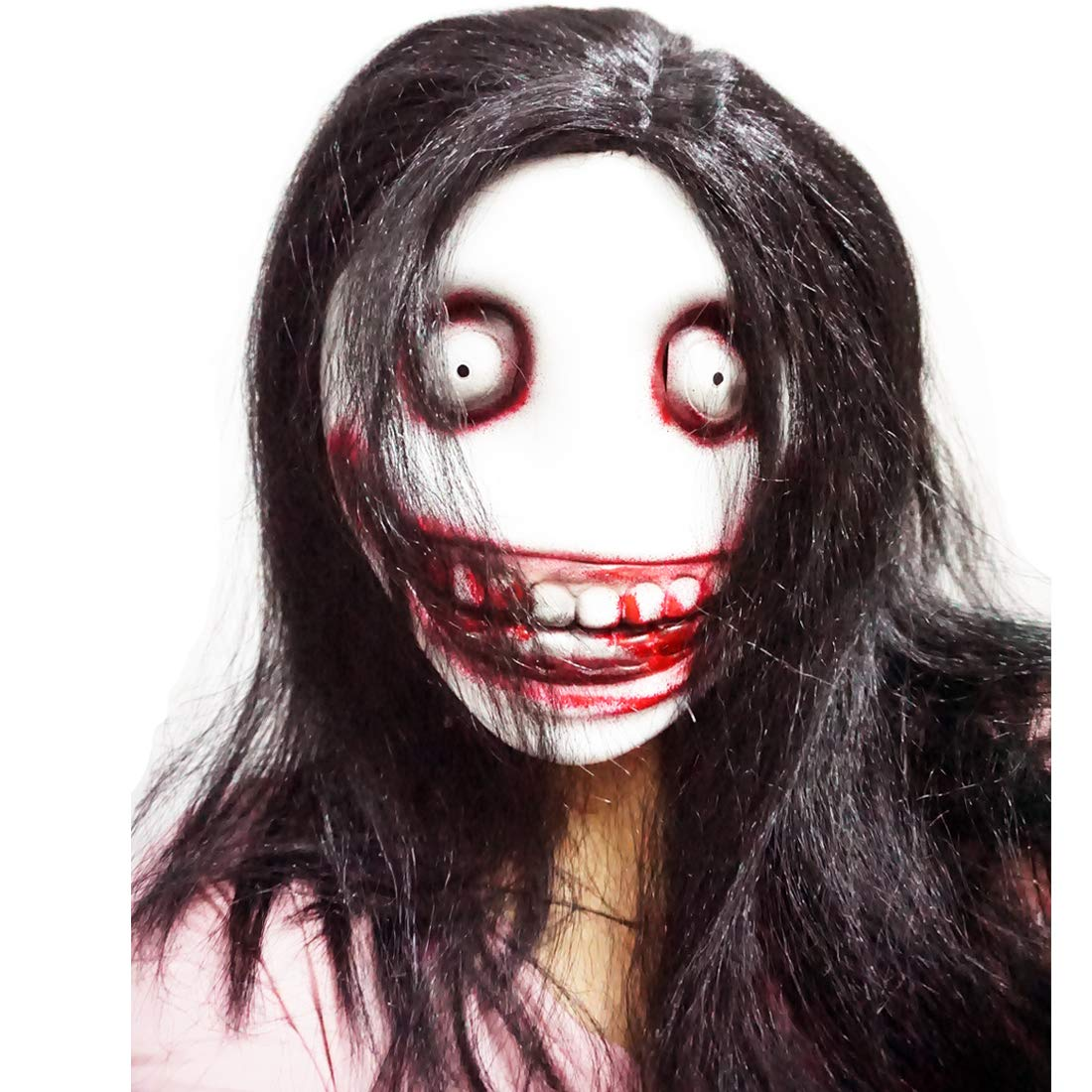 MISS C Máscara de látex Jeff The Killer para Disfraz de Halloween ...