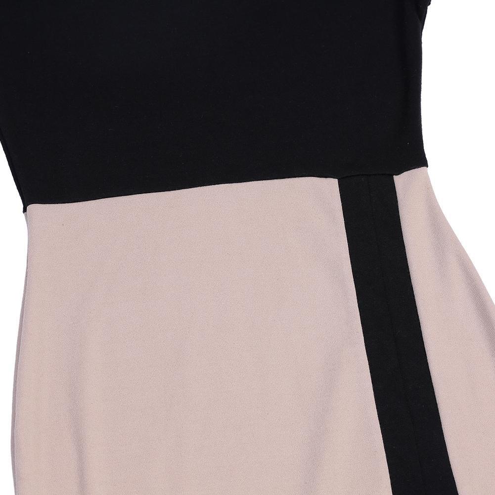 1925db96c99 openbeauty Femme Robe Illusion d optique à fente robe travail Robe pour  soirée déguisée - beige - Small  Amazon.fr  Vêtements et accessoires