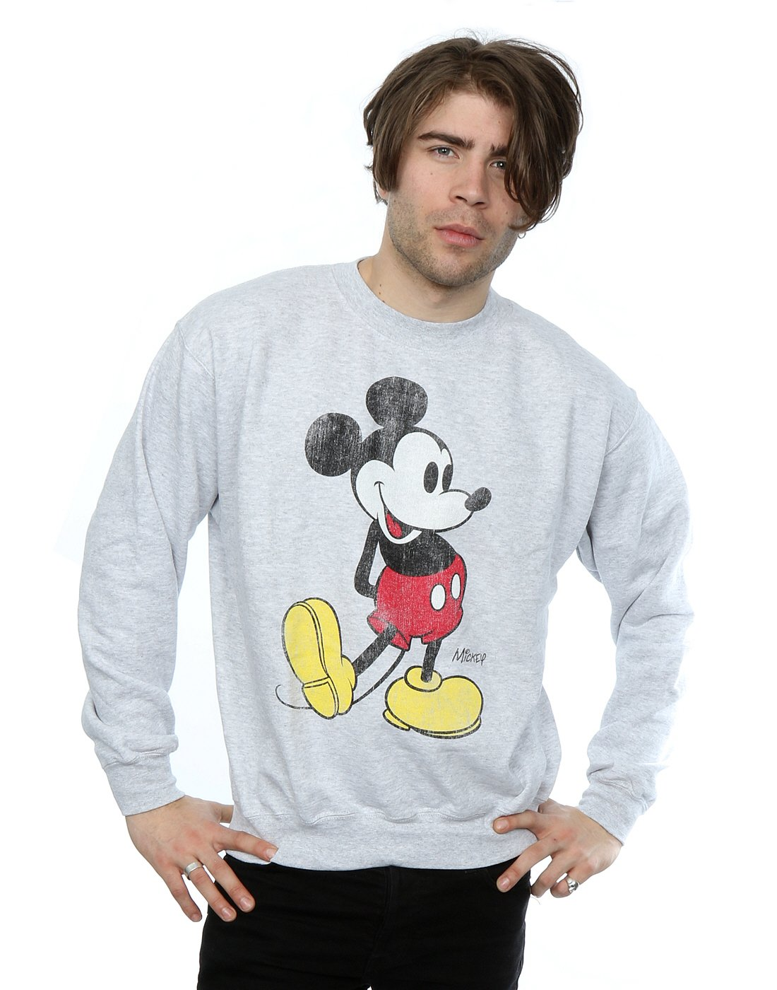 Disney Girls Mickey Mouse Sketch Kick Sweatshirt