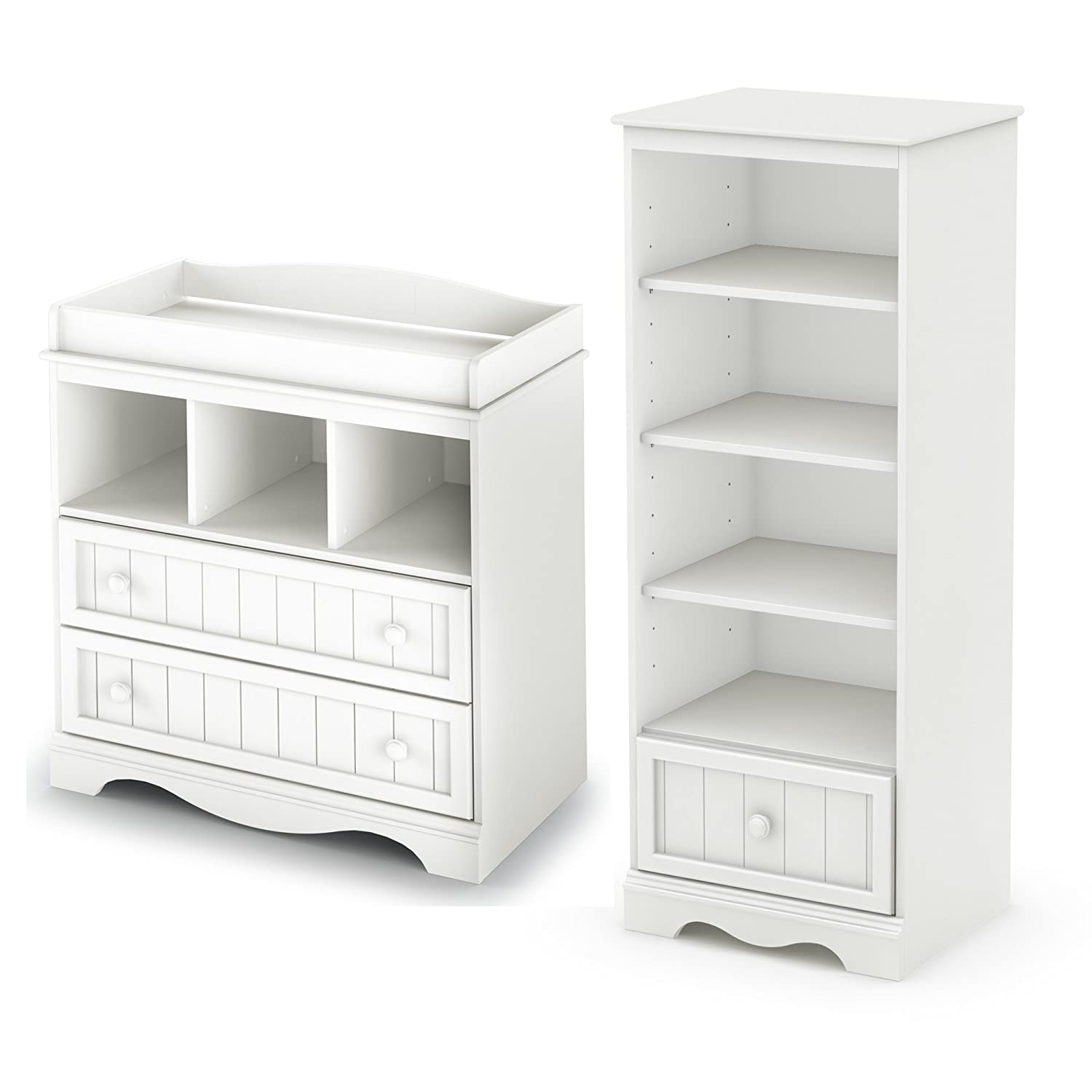 Amazon South Shore Savannah Changing Table and Shelving Unit
