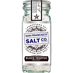 4 oz. Glass Shaker - Italian Black Truffle Sea Salt by San Francisco Salt Company