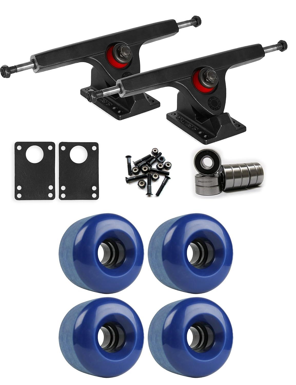 CaliberブラックLongboard Trucksホイールパッケージ70 mm x 46 mm 83 a 293 Cブルー   B01IJ8JQ1S