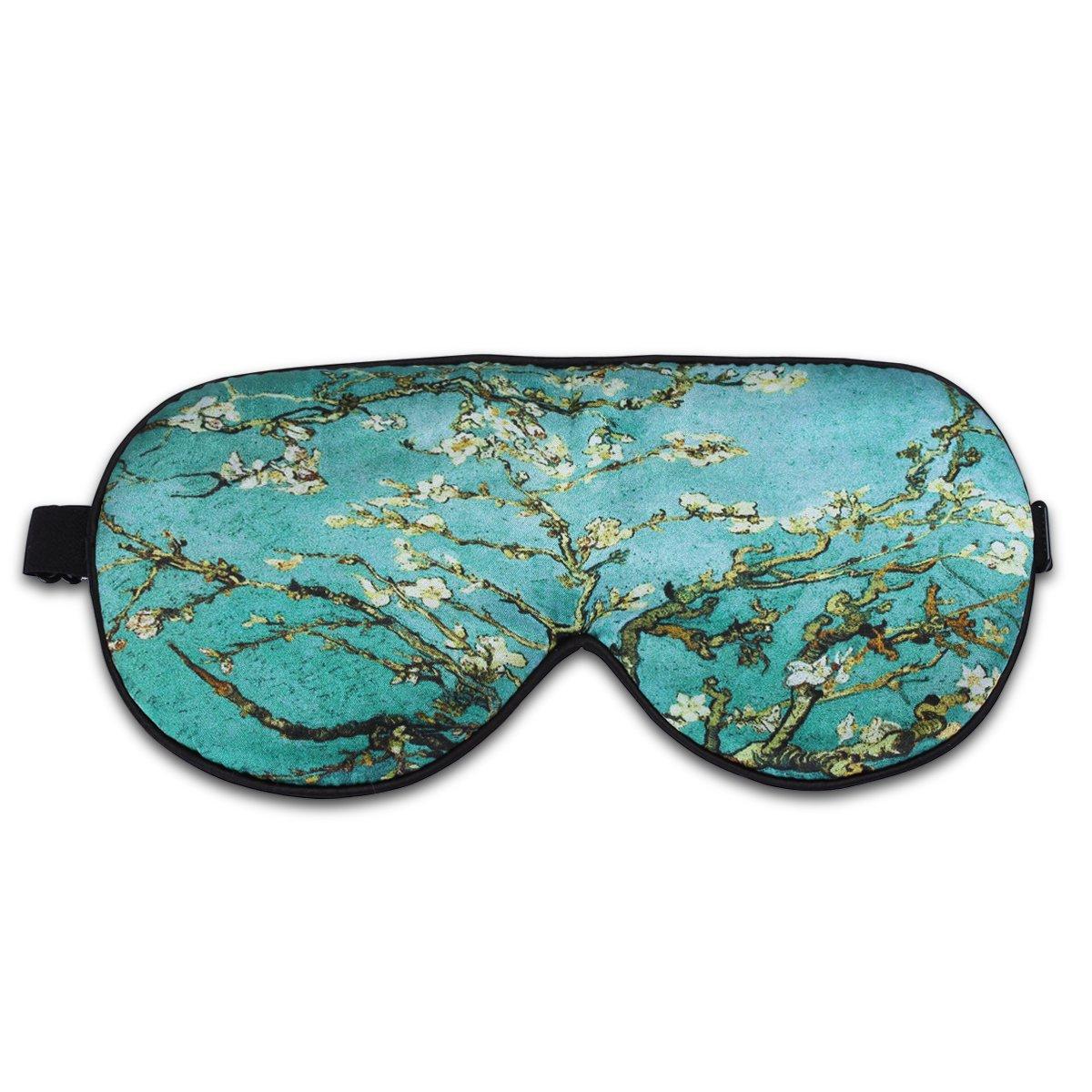 ALASKA BEAR® Natural silk sleep mask & blindfold, super-smooth eye mask (Almond Blossom)