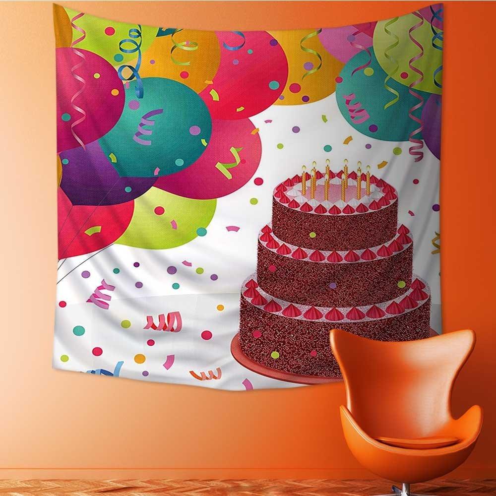 ホームデコレーションスタンプWithletters celebratorybokeh背景オレンジGホワイトタペストリー壁吊りアートのリビングルームベッドルーム寮ホームdecor32 W X 32lインチ 47W x 47L Inch GT-Z-f-02023K120xG120 47W x 47L Inch デザイン03 B07FZZ48Q4