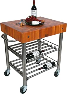product image for Cucina Americana D'Amico Kitchen Cart with Butcher Block Top