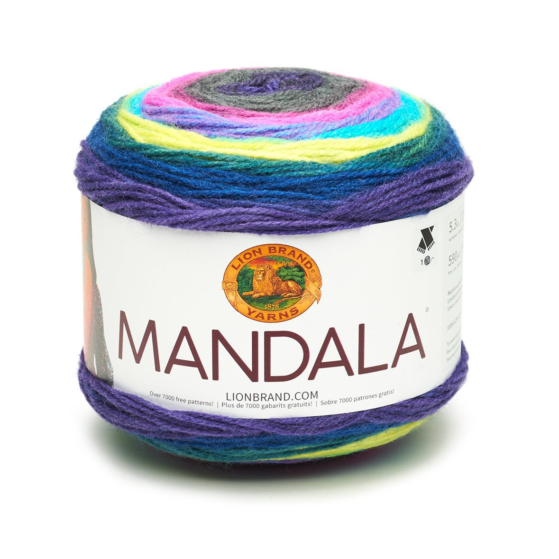 Lion Brand Yarn Company Lion Brand Hilo 525 - 218 Mandala, acrílico ...