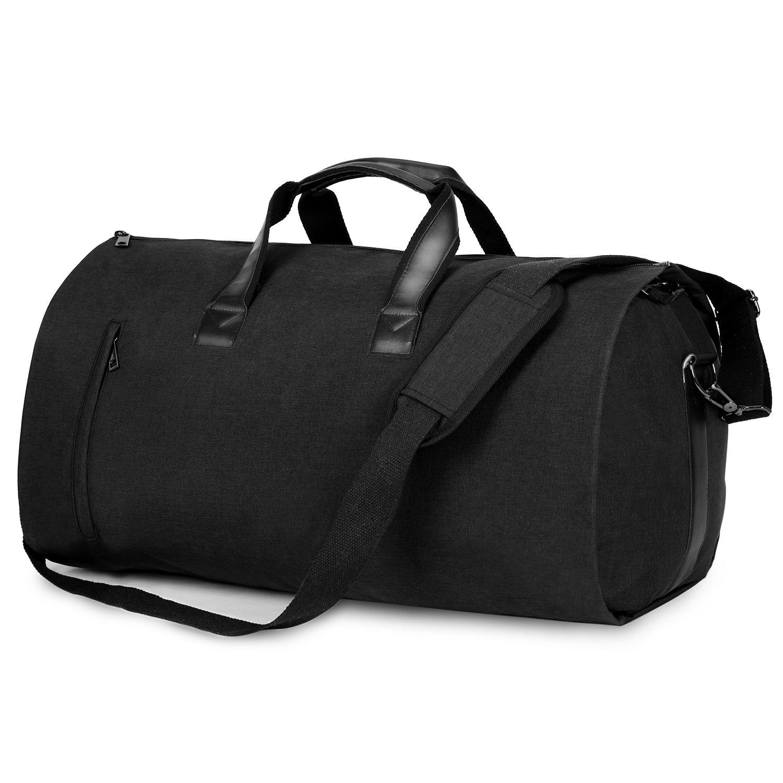 Carry-on Garment Bag Suit Travel Bag Duffel Bag Weekend Bag Flight Bag Gym Bag - Black by UNIQUEBELLA (Image #2)