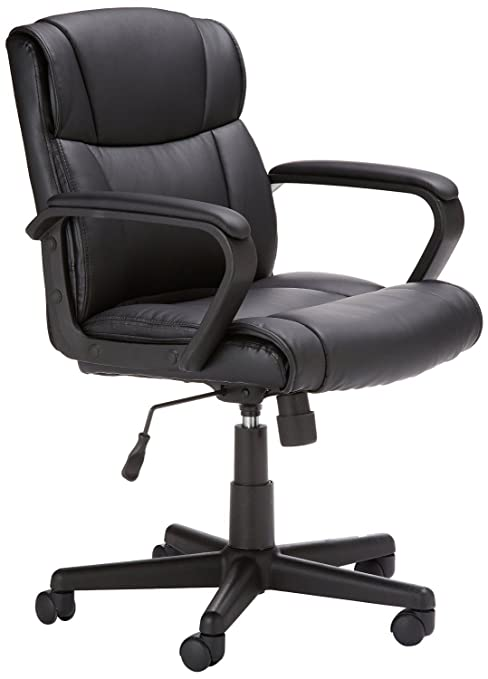 Amazoncom Amazonbasics Mid Back Office Chair Black Kitchen Dining