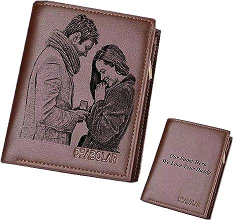 Personnalisée Photo métal souvenir Portefeuille Carte-Noël Annivesary Cadeau