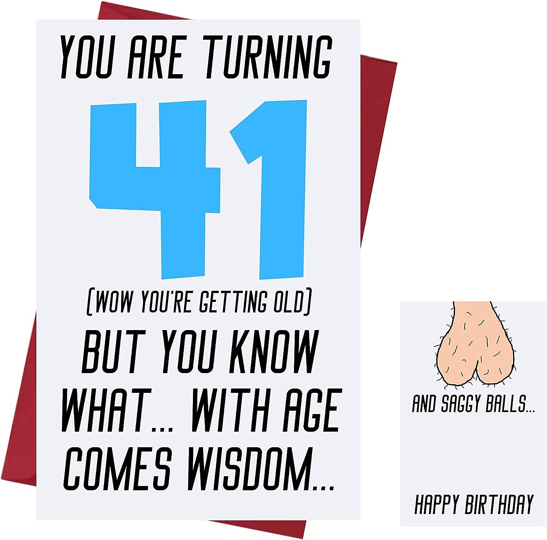 Amazon Com Funny Offensive Rude Sarcasm 41st Birthday Cards For Men Boyfriend Husband Dad Friends Offensive Birthday Cards 41 Years Old Offensive Rude Sarcasm Birthday Cards 41st Anniversary Office Products