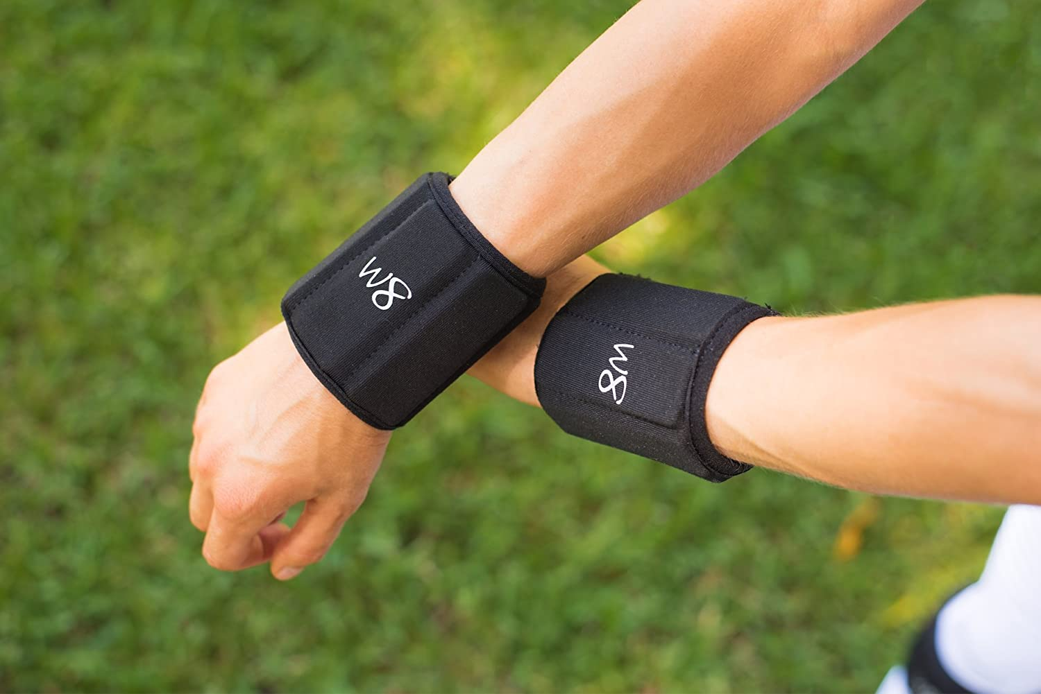 Adjustable Wrist Weights for Tremors 1/2 lb to 1 lb set of 2 W8FIT