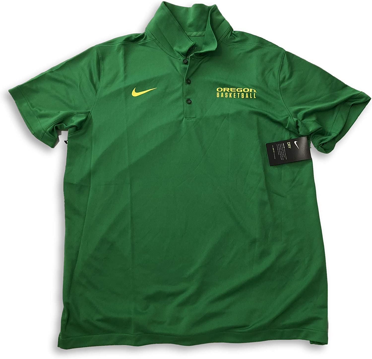 Nike Oregon Ducks Dri-Fit Basketball Performance Apple Green Polo Shirt (X-Large)