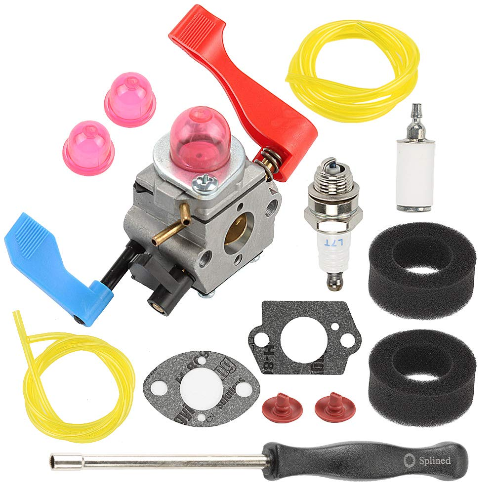 Hayskill WT-784 Carburetor C1Q-W11 with Air Filter Tune Up Kit for Poulan Weed Eater Craftsman 530071465 530071632 530071775 PPBVM200 PPBVM200LE BV1800 BV1850 BV1850LE BV200LE BV2000 Leaf Blower