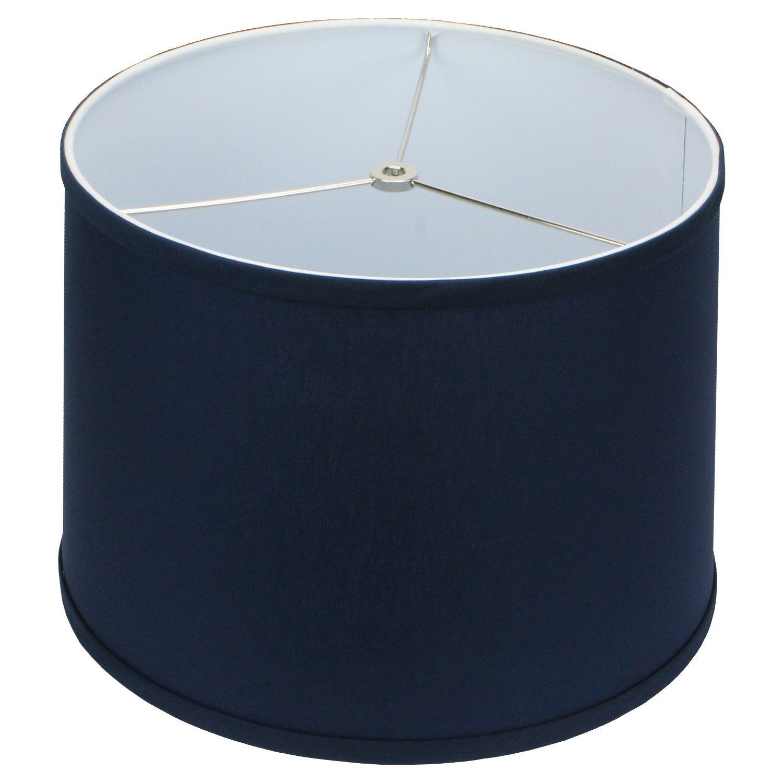 FenchelShades.com 13'' Top Diameter x 14'' Bottom Diameter 10'' Slant Height Lampshade USA Made (Navy Blue)