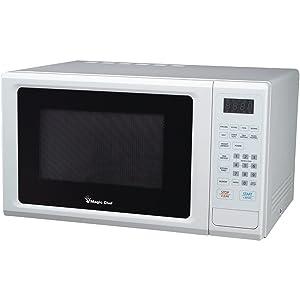 Magic Chef 1.1 cu ft Microwave, 10 power levels 8 auto cook menus (White)