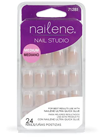 Amazon.com : Nailene Nail Studio, Medium Pink, 24 Count : False Nails : Beauty