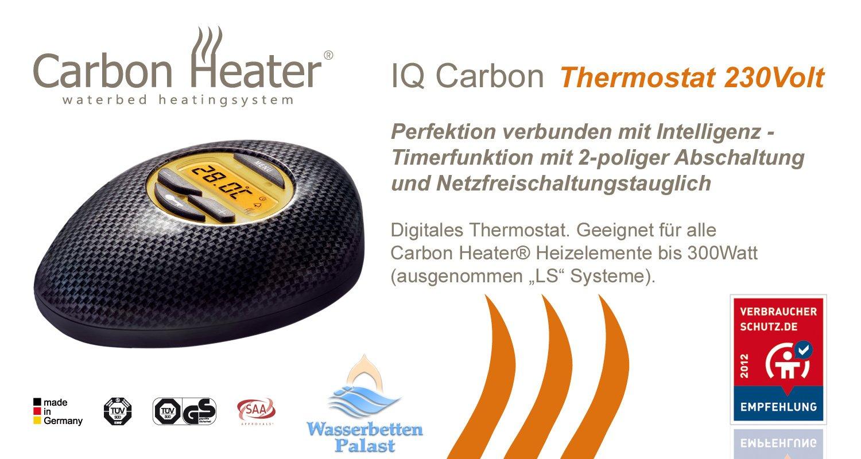 Wasserbett heizung carbon  Carbon Heater IQ Carbon digital - 240 Watt - T.B.D intelligente ...