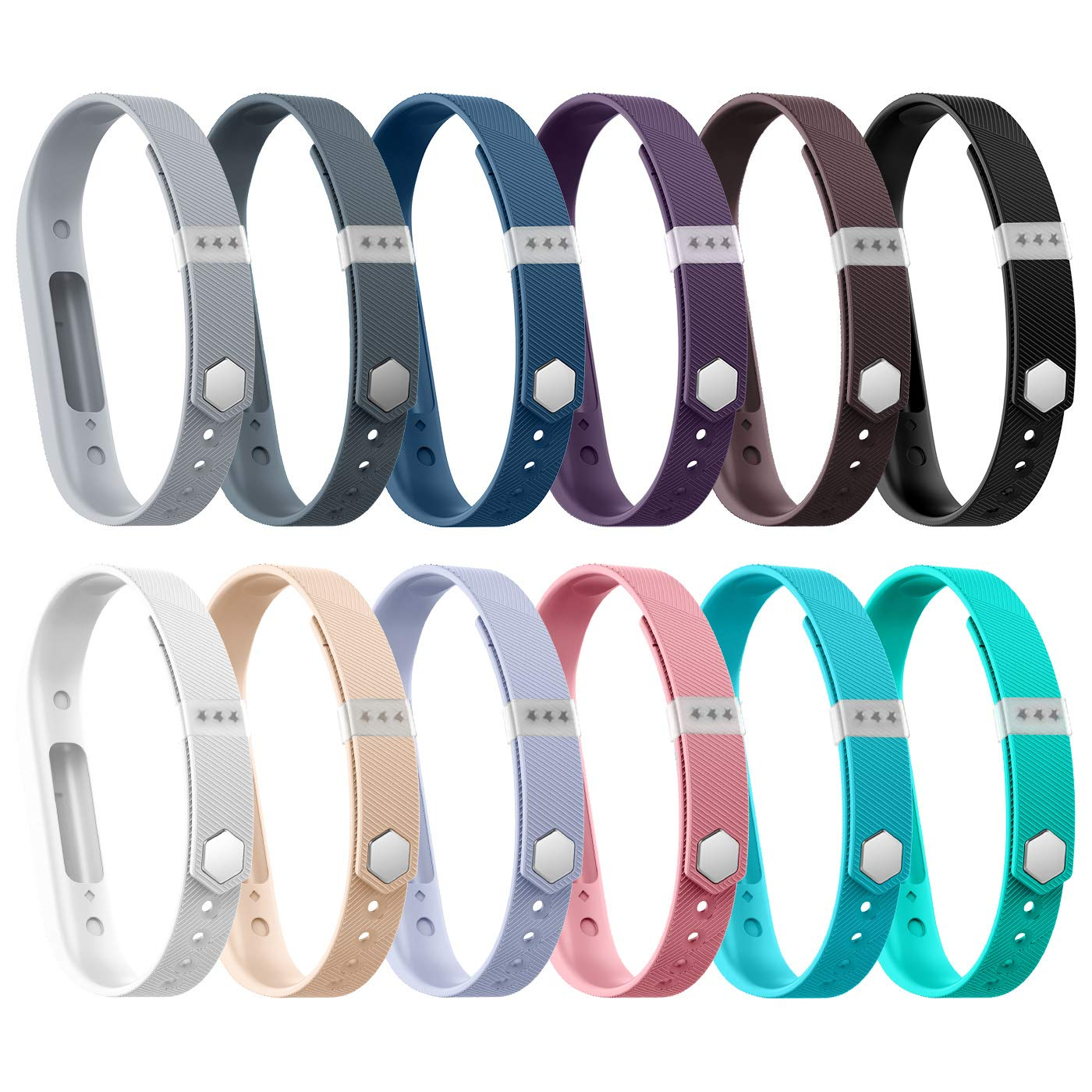 BeneStellar 12 Colors Fitbit Flex 2 Band Bracelet Strap Replacement Band for Fitbit Flex 2