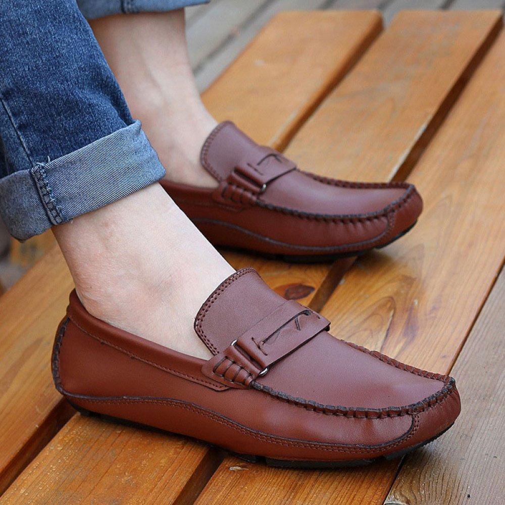 ZLLNSPX  Schuhe  Herren Fashion Bean Schuhe  Breathable Leder Schuhe Freizeitschuhe Fahren Schuhe Braun 0acd84