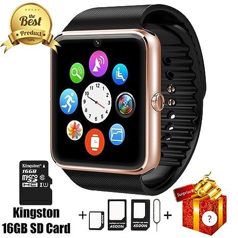 Amazon.com: Smart Watch gt08 Bluetooth con tarjeta SD de 16 ...