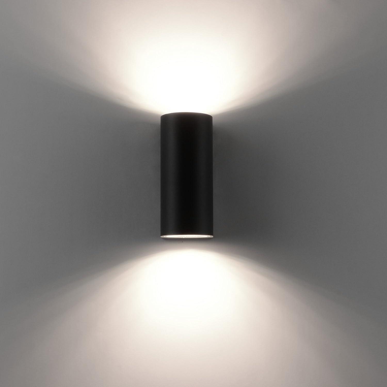8x LED Außenwandleuchte Bastia Aluminium Anthrazit Down Light Wandleuchte Außen