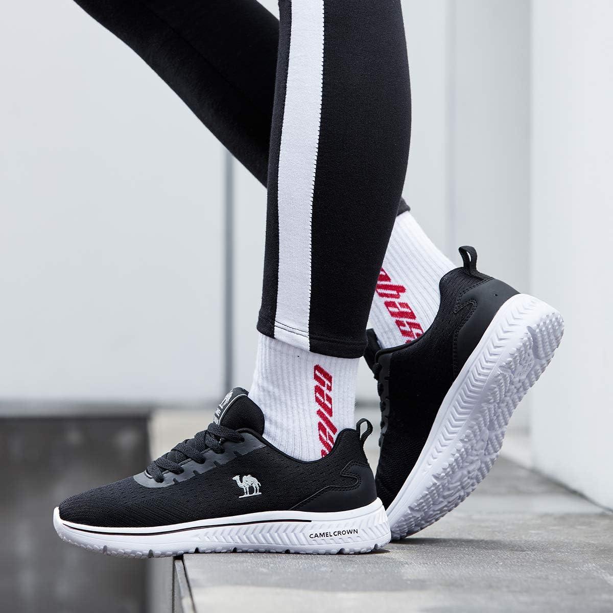 CAMEL CROWN Mujer Ligero Zapatillas Moda Zapatillas de Deporte para Mujer Zapatos para Caminar