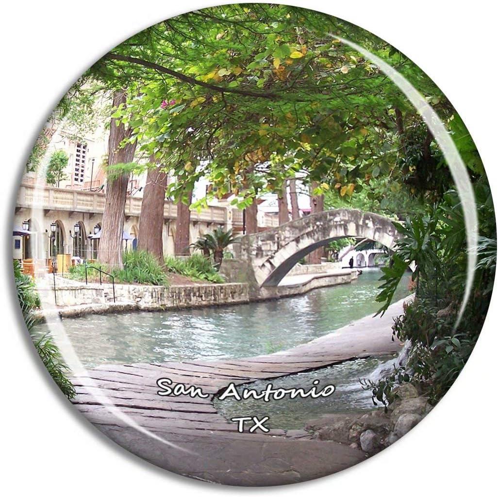 Fridge Magnet San Antonio River Walk Texas USA TX Travel Souvenir Collection for Gift Home Decoration Office Whiteboard