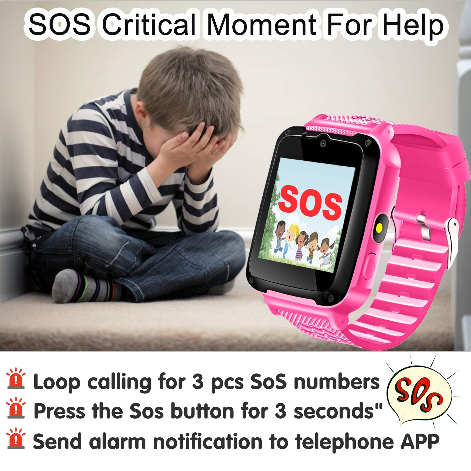 Amazon.com: Kids Phone Smart Watch for 3-12 Year Boys Girls ...